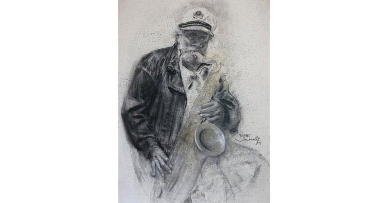 Musico-de-San-Francisco-dibujo-76X56cm-JM2395-g