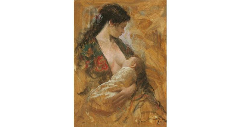 Maternidad-gitana-pastel-65X50cm-JM2106-g