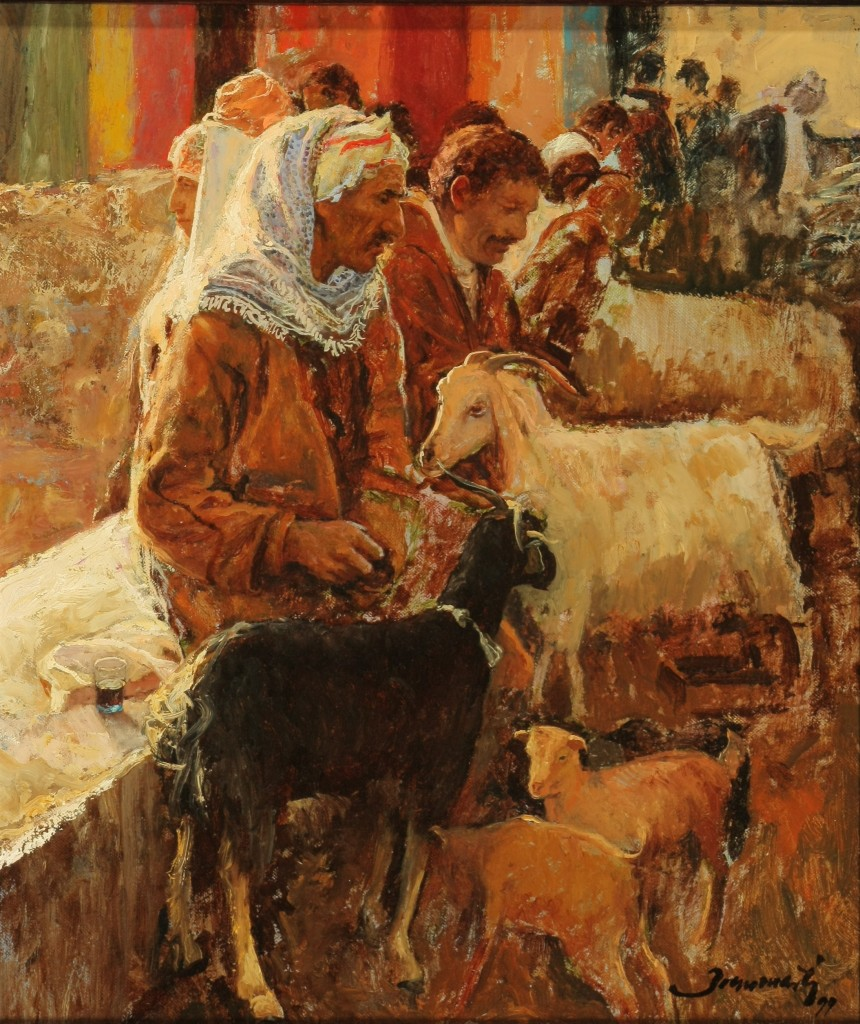 ref. 0081  Pastores árabes  Oleo  27 X 32